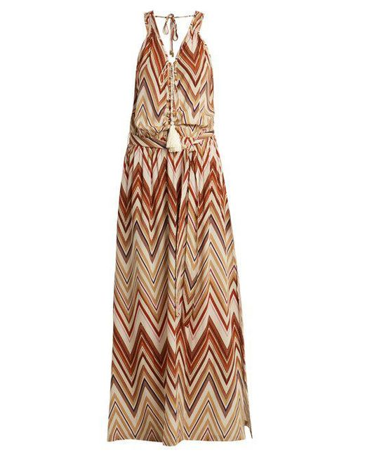 Jacquie zigzag print maxi dress Melissa Odabash 3GrWll