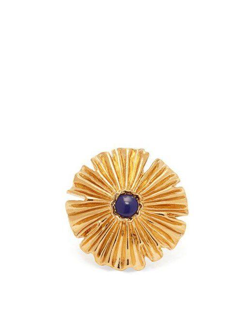 Aurelie Bidermann - Metallic Sofia Flower Gold-plated Ring - Lyst