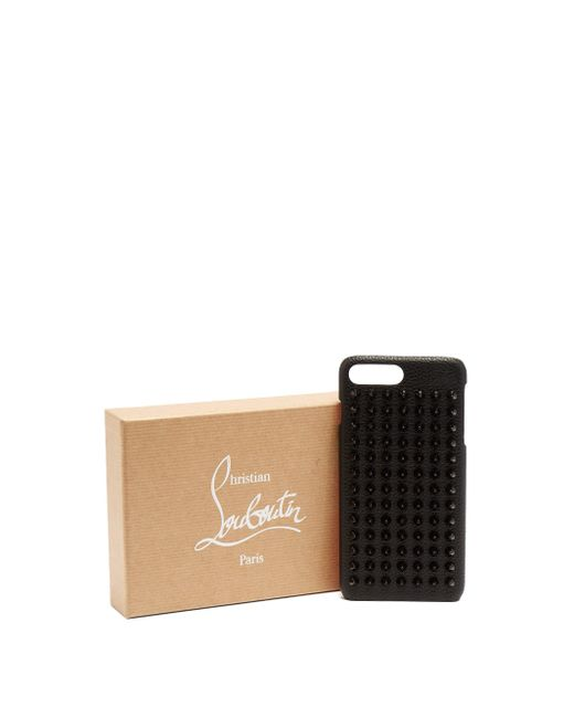 Christian Louboutin Black Loubiphone Spike Leather Iphone® 7+/8+ Case for men