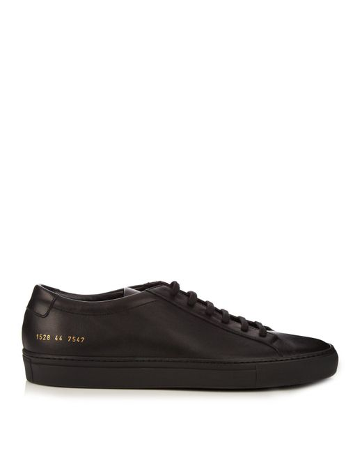Common Projects - Black Leather Achilles Sneakers for Men - Lyst