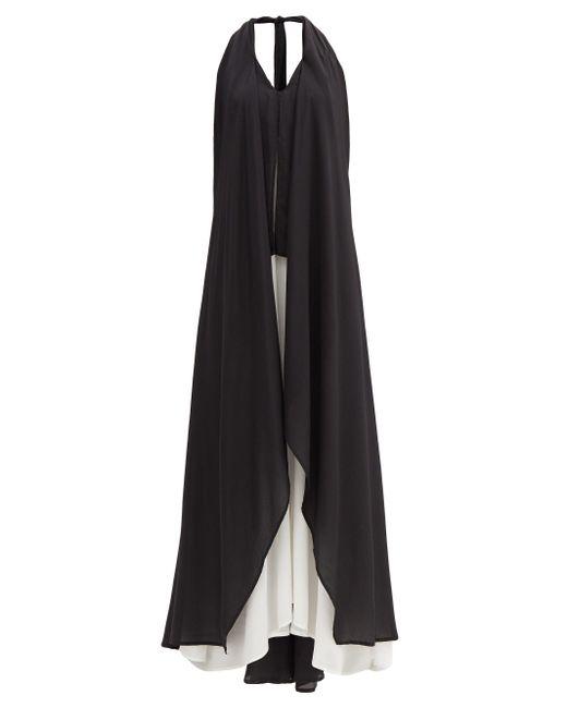 Kalita ナイチンゲール ホルターネック シルククレープドレス Black