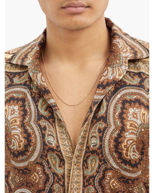 メンズ Fernando Jorge 18kゴールドオメガチェーン Multicolor