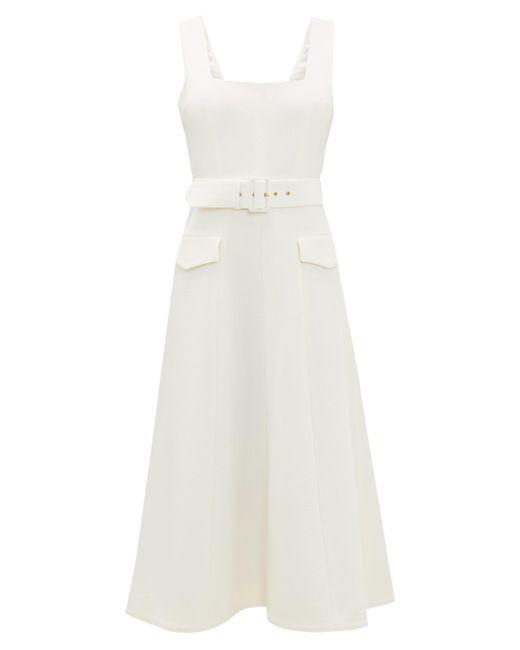 Emilia Wickstead ペトラ ウールクレープドレス Multicolor