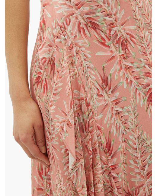 Adriana Degreas アロエ フロントタイ ラッフルスカート Pink