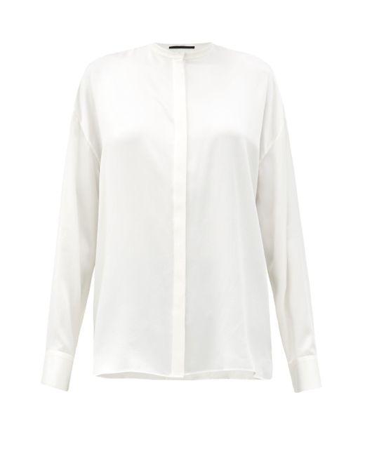 Haider Ackermann ダリ スタンドカラー シルクシャツ White