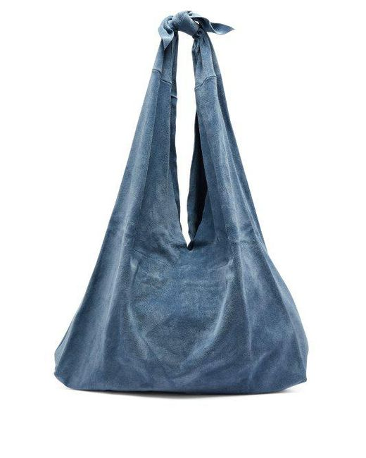 Bindle Suede Shoulder Bag - Light blue The Row wMhNnPZH