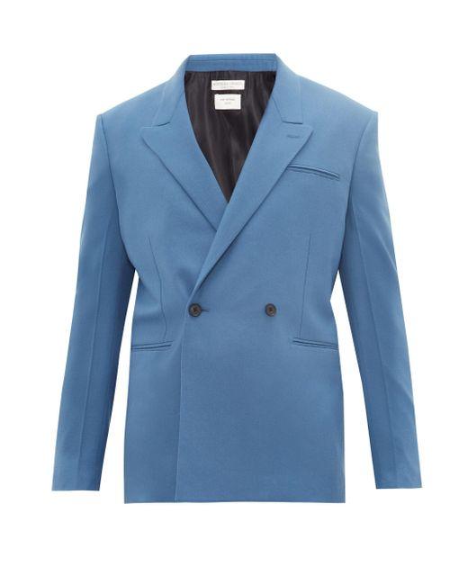 メンズ Bottega Veneta カシミア ダブルスーツジャケット Blue