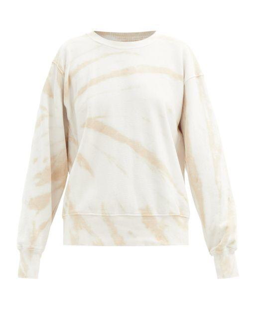 Les Tien タイダイ ブラッシュドバックコットン スウェットシャツ Natural