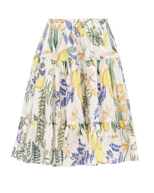 LaDoubleJ ラブ ボタニカル コットンポプリンスカート Multicolor
