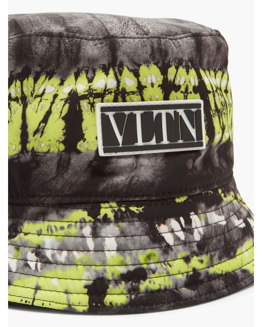 メンズ Valentino Vltnロゴ タイダイツイル バケットハット Multicolor