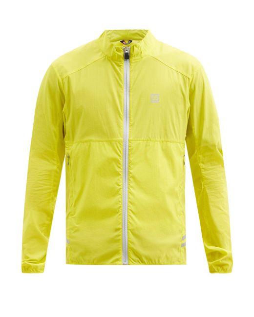 66 North Yellow Kársnes Zipped Lightweight Waterproof Jacket for men