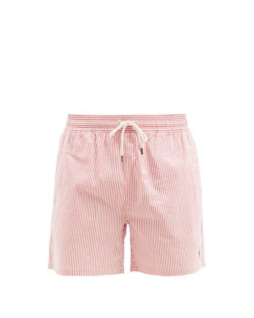 メンズ Polo Ralph Lauren トラベラー シアサッカースイムショーツ Pink