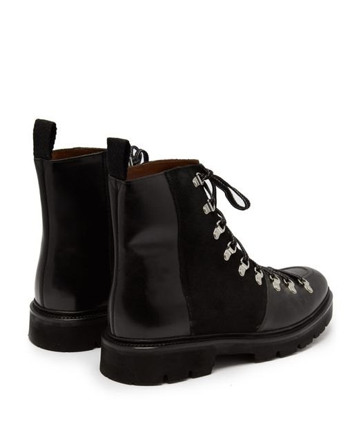 3a840eeb5d0 Men's Black Brady Leather And Suede Boots