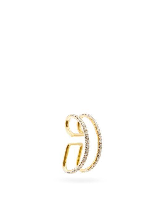Ana Khouri ジェイミー ダイヤモンド 18kゴールドイヤーカフ Metallic