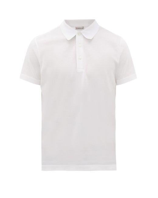 メンズ Moncler コットンピケ ポロシャツ White