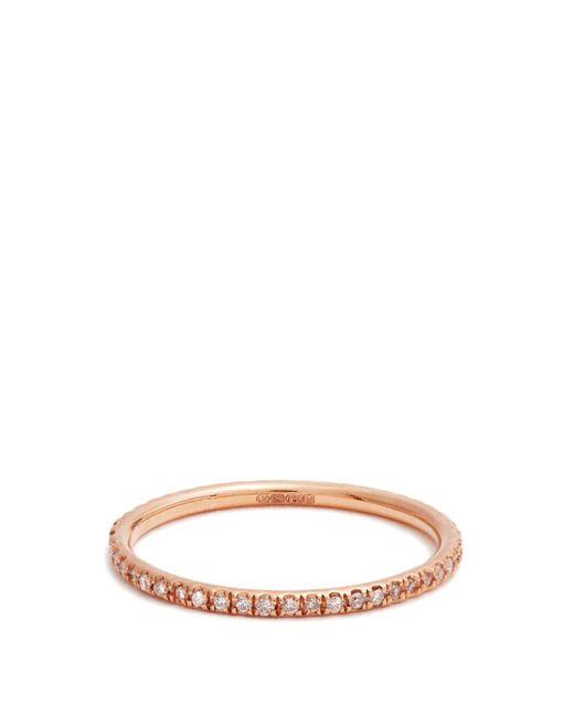 Ileana Makri - Multicolor Diamond & Pink Gold Ring - Lyst