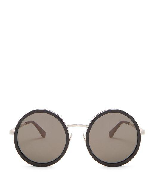Saint Laurent - Multicolor Round-frame Acetate Sunglasses - Lyst