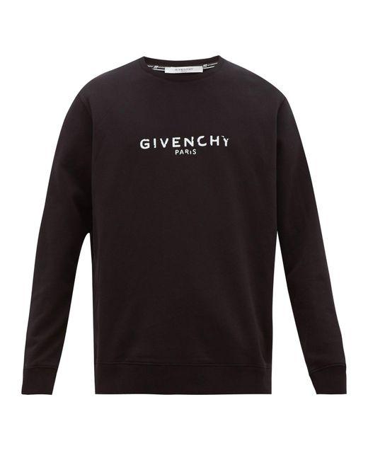 メンズ Givenchy コットンスウェットシャツ Black