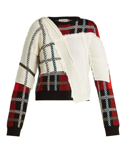 Preen By Thornton Bregazzi - Multicolor Rita Tartan Knit Sweater - Lyst