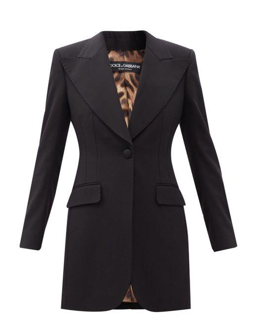Dolce & Gabbana ウールクレープ シングルジャケット Black