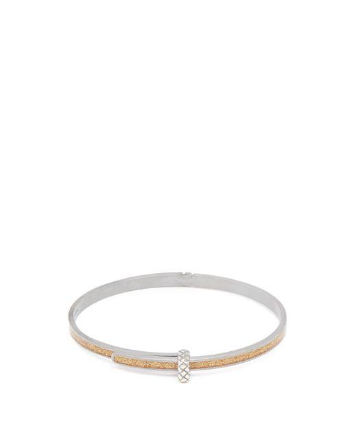 Bottega Veneta | Metallic Intrecciato-embossed Silver Bracelet | Lyst