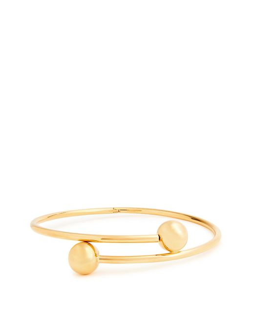 J.W. Anderson   Metallic Double-sphere Gold-plated Choker   Lyst