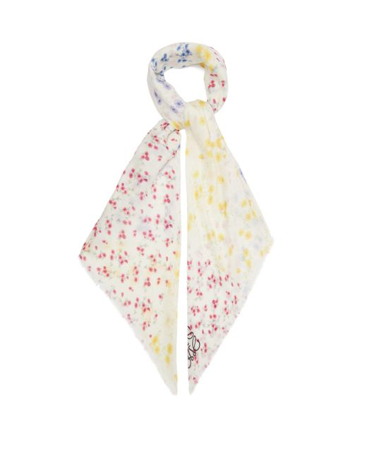 Loewe アナグラム フローラル モダールカシミアスカーフ Multicolor