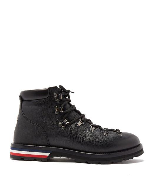 Moncler Black Peak Lace-up Leather Boots for men