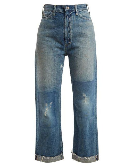 Chimala - Blue Straight-leg Cropped Jeans - Lyst