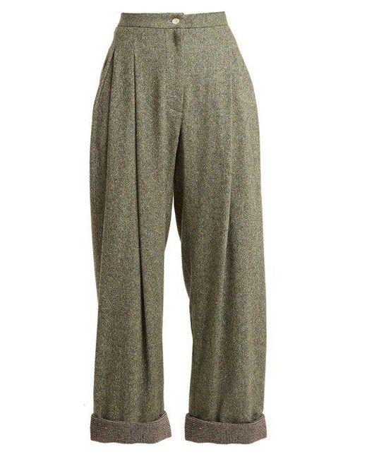 High-rise wide-leg wool-blend trousers Natasha Zinko WE4TF90yO