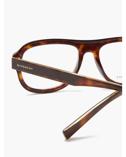 Givenchy アビエイター トータスシェルメガネ Brown