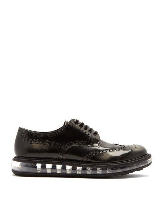 Prada - Black - Bubble Midsole Leather Brogues - Mens - Grey for Men - Lyst