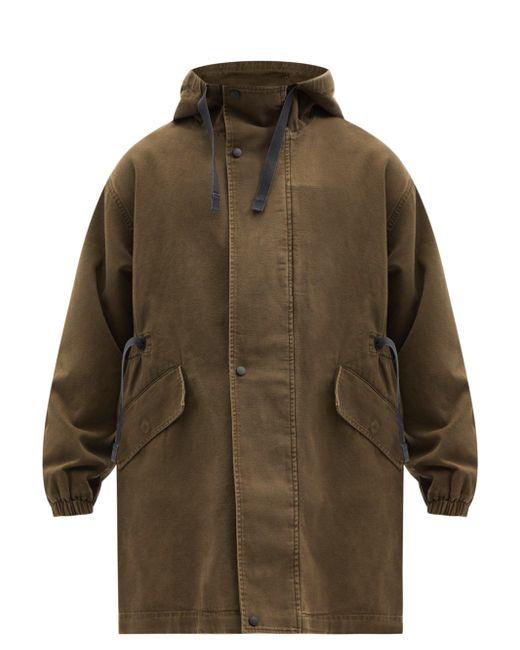 メンズ Acne フーデッド コットンキャンバスコート Multicolor