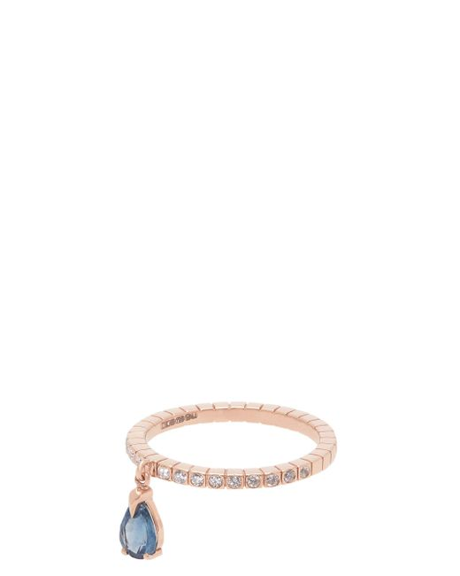 Diane Kordas Spectrum ダイヤモンド+サファイア+18kローズゴールド リング Multicolor