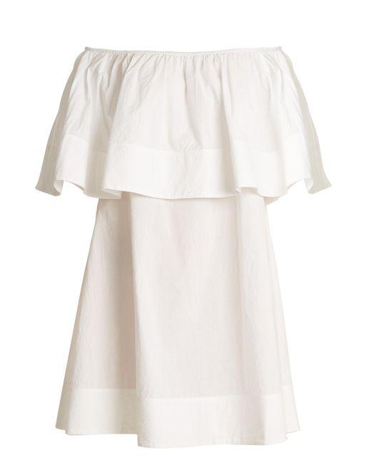 Apiece Apart | White Piper Petal Off-the-shoulder Cotton Dress | Lyst
