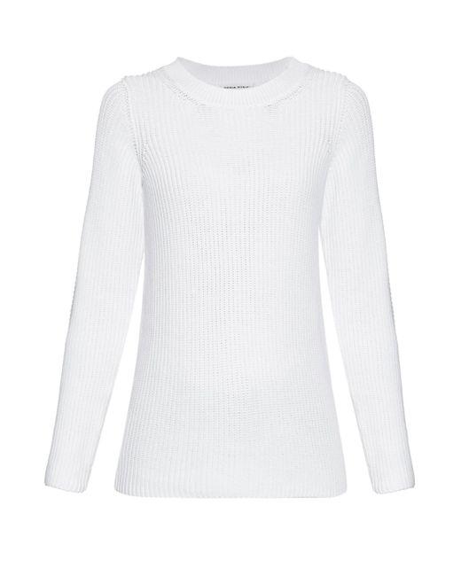 Sonia Rykiel - White Chunky Knit Back Overlay Sweater - Lyst