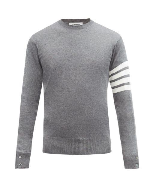メンズ Thom Browne 4bar ウールセーター Gray