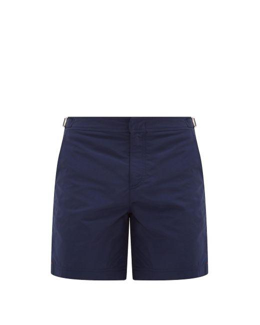 Orlebar Brown Blue Bulldog Mid-Length Swim Shorts for men