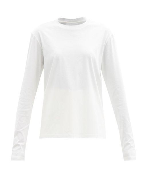 Jil Sander ロングスリーブ コットンtシャツ White