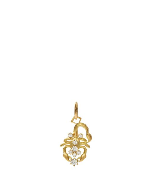 Jade Trau スコーピオ ダイヤモンド 18kゴールドチャーム Metallic