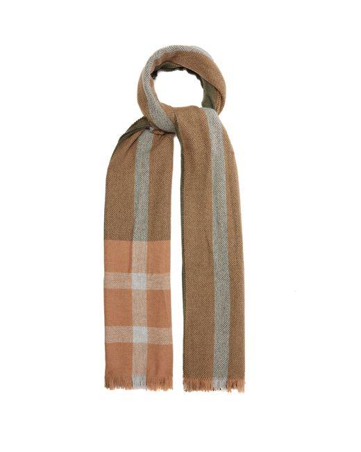 Écharpe en cachemire à rayures jacquard Brunello Cucinelli pour homme en coloris Brown