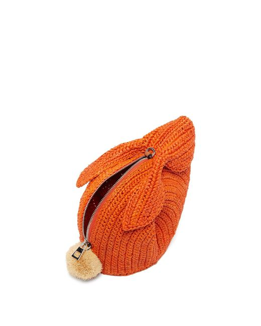 55e4bb08fa Women's Orange Bunny Mini Raffia Cross Body Bag