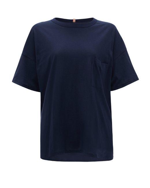 Lunya クール コットンブレンド パジャマtシャツ Blue