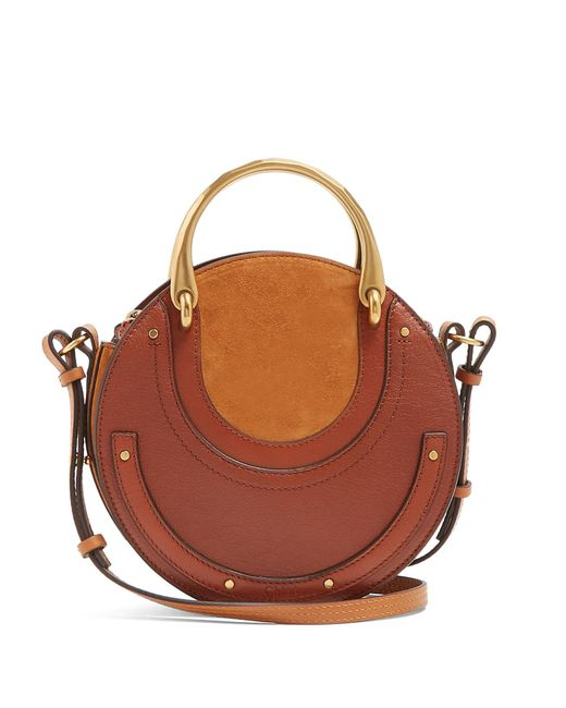 Chloé - Brown Pixie Small Leather And Suede Cross-body Bag - Lyst