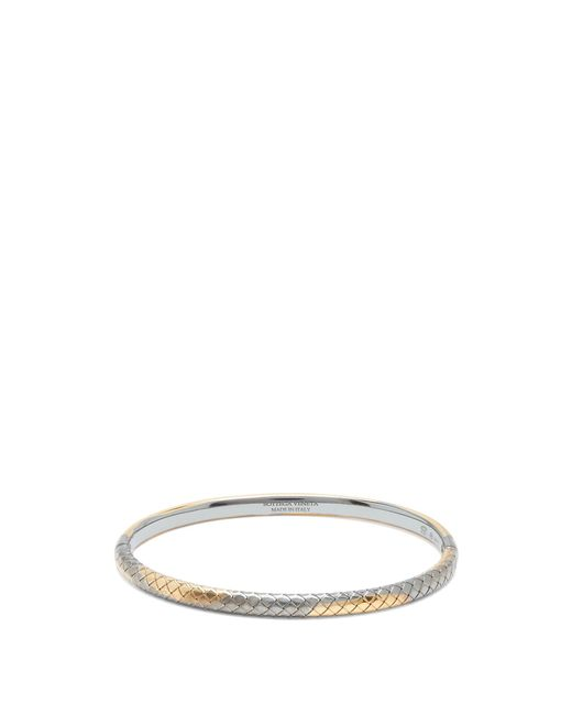 Bottega Veneta | Metallic Intrecciato-engraved Bracelet | Lyst