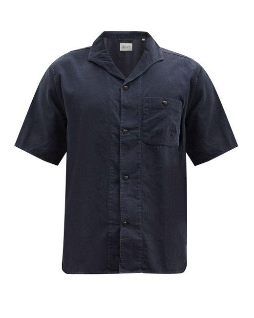 メンズ Albam マイルズ コットンニードルコードシャツ Blue