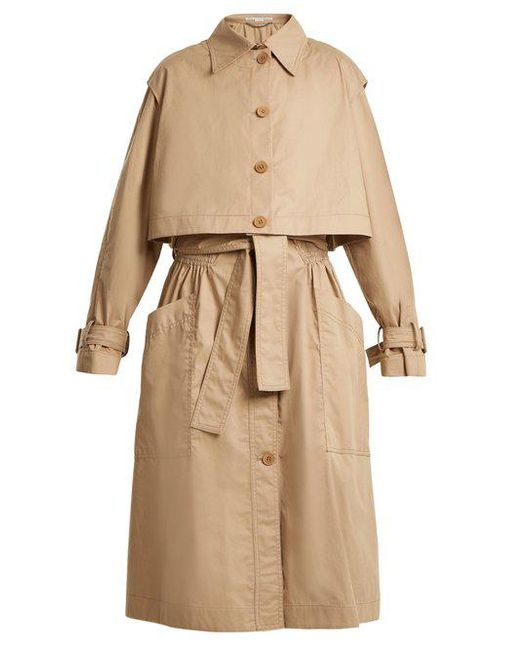 Cheap Outlet Store Caban elasticated-waist cotton trench coat Stella McCartney Clearance Sast dHf013pJ