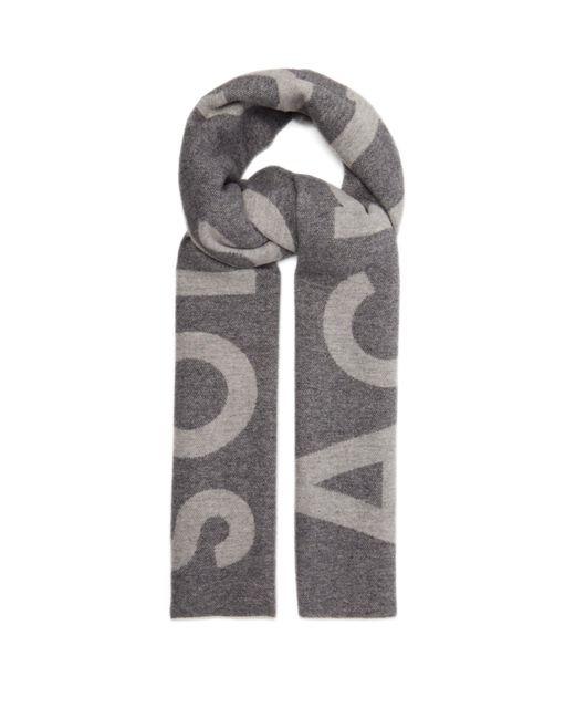 Écharpe en laine mélangée Toronto Acne pour homme en coloris Gray