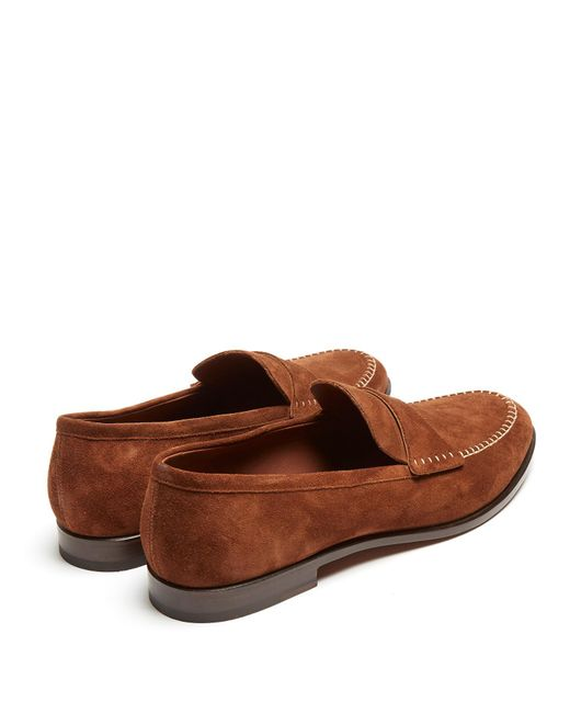Azir contrast-stitch suede loafers Fratelli Rossetti BeSa00Fr