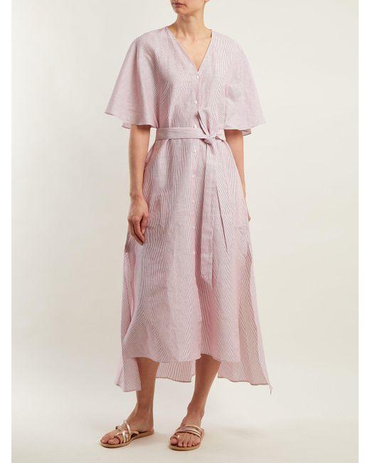 Striped linen and cotton-blend dress Palmer//harding kPBpp